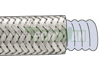 Corrugated PTFE with stainless steel mesh
