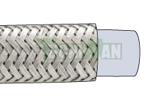 Smooth PTFE with stainless steel mesh