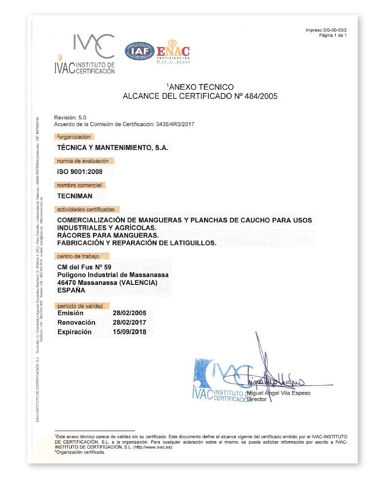 Tecniman_Certificacion_ISO_2