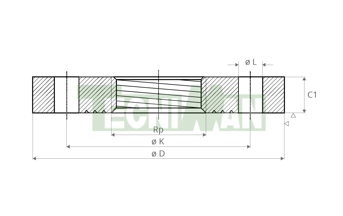 EN 1092-1-01 PN10 Roscada. Según EN 10226-3 (ISO 7/1)