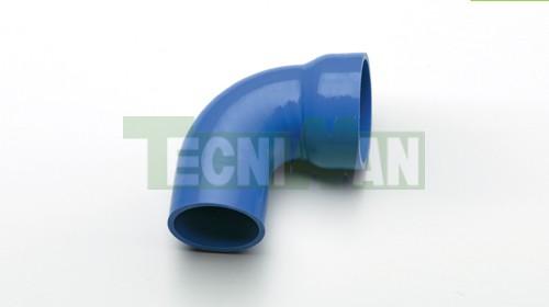Elbow 90º reducer blue silicone