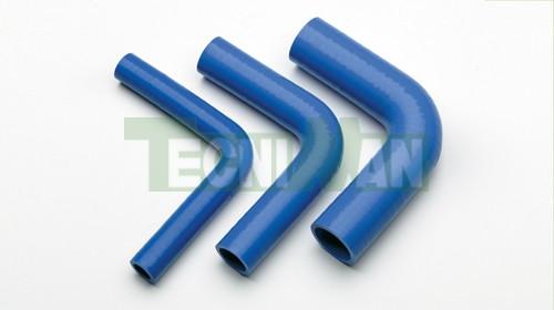Elbow 90º blue silicone