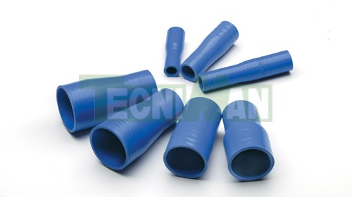 Blue silicone reducer