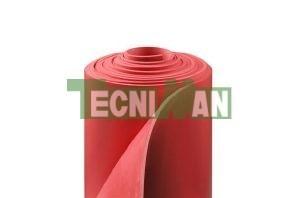 Plancha de caucho esponjosa roja